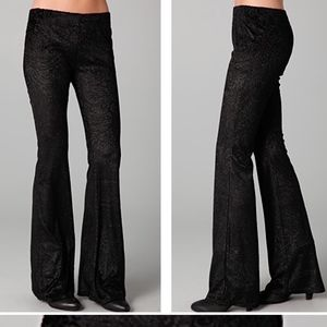 Free People Velvet Burnout Printed Flare Pants